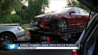 2 arrested in Whitefish Bay after Milwaukee carjacking, chase - Video