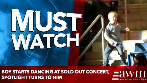 Boy Starts Dancing At Sold Out Concert, Spotlight Turns To Him And The Crowd Goes Crazy