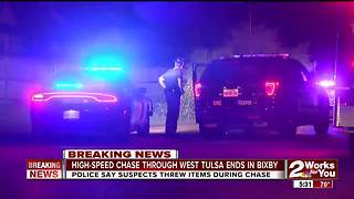 High-speed chase ends with crash in Bixby - Video