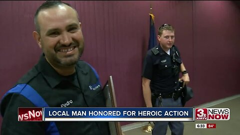 Local Man Honored for Heroic Action