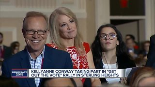 Former Vice President Joe Biden, Kellyanne Conway make campaign stop in Michigan - Video