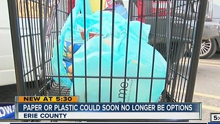 Push to ban plastic bags in Erie County - Video