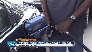 Gas prices expected to spike as Hurricane Harvey inches towards Texas - Video