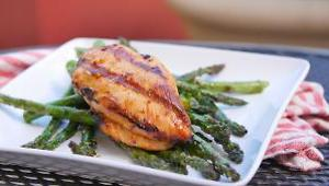Grilled Tequila-Lime Chicken with Grilled Asparagus - Video