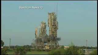 DEMOLITION | Historic twin towers at launch site at Cape Canaveral demolished Thursday morning - Video