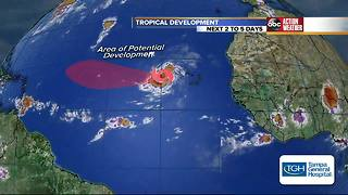 Tropical Storm Irma forms in the Atlantic Ocean - Video