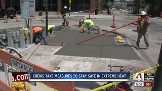 Extreme heat impacts crews working outside