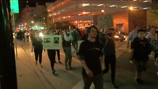 Peaceful protests continue overnight
