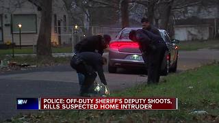 Police: Off-duty sheriff's deputy shoots, kills suspected home intruder - Video