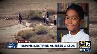 Police and public speak after remains found were identified as Jesse Wilson - Video