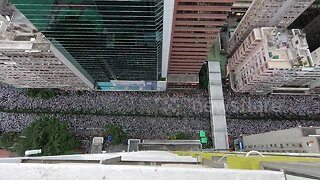 Incredible footage shows scale of protest against Hong Kong's extradition bill