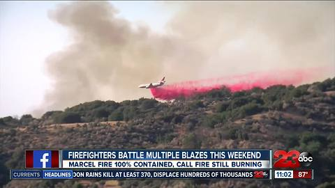 Firefighters battle multiple fires this weekend