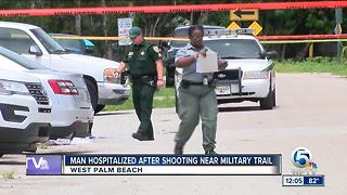 Man hospitalized after shooting near Military Trail