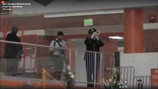 Final Salute: Firing of three volleys and taps U.S. Army Sgt. Jonathon Hunter's Funeral - Video