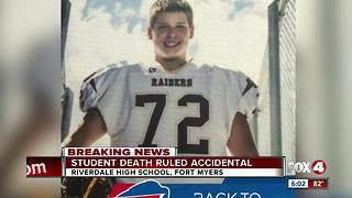 Football player's death ruled accidental - Video