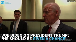 Joe Biden On President Trump: 'He Should Be Given A Chance'.mp4 - Video