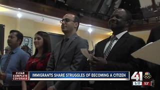 Immigrants share struggles of becoming a citizen - Video