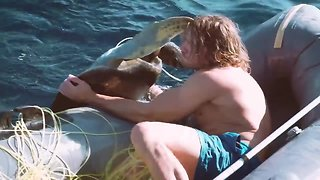 Man saves four sea turtles trapped in fishing nets