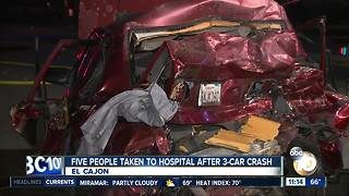 Five people injured in El Cajon crash - Video