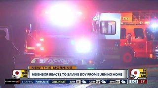 Neighbor saves boy from house fire
