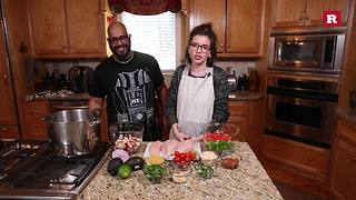 Tyson's 'Life-giving chicken soup' with Elissa the Mom | Rare Life - Video