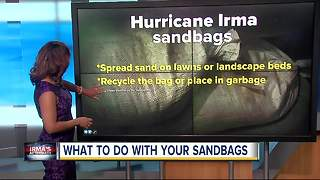 What you should do with sandbags after Hurricane Irma - Video