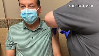 COVID vaccine trial unblinded for KGUN 9 anchor