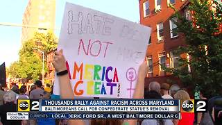 Baltimore stands in solidarity with Charlottesville - Video