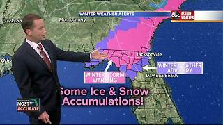 Winter Storm Warning issued for counties in North Florida - Video