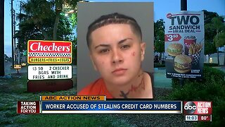 Worker accused of stealing credit card info