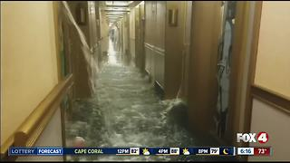 Water line break floods 50 staterooms on Carnival cruise - Video