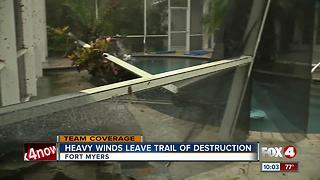 High winds uproot trees, leaves damage in Fort Myers neighborhood
