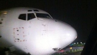 Plane That Skidded Off Bergamo Runway Captured Up-Close By Driver - Video