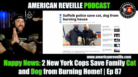 Happy News: 2 New York Cops Save Family Cat and Dog from Burning Home! | Ep 87