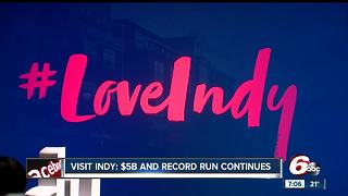 Visit Indy says record tourism run is continuing - Video