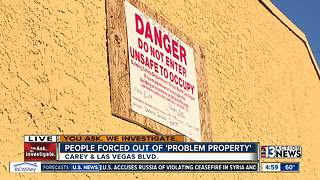 Dozens evicted from problem property in North Las Vegas - Video