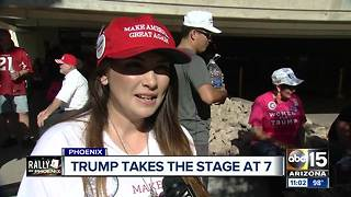 President Trump to take stage at Phoenix Convention Center at 7 p.m. - Video