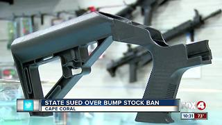 Lawsuit against Florida over bump stock ban