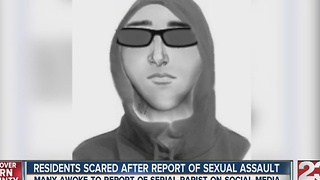 Residents scared after report of sexual assault in NE Bakersfield