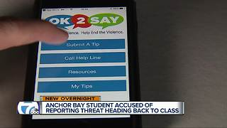 Teen suspended after using OK2SAY app to report overheard school threat