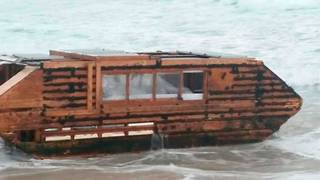 Mysterious Canadian Houseboat Washes Up on Irish Coast With a Note - Video