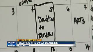 San Diego immigration advocates helping Dreamers beat DACA deadline - Video