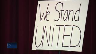 UW-Fox Valley students rally for more student input in proposed merger - Video