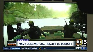Navy uses virtual reality to recruit - Video