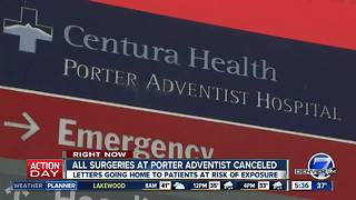 Porter Adventist Hospital cancels surgeries - Video