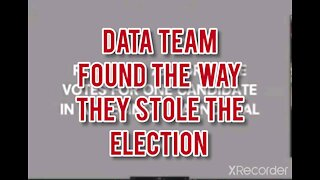 DATA TEAM SHOWS HOW ELECTION WAS STOLEN