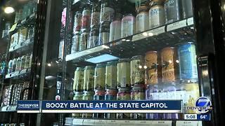 Boozy battle at the Colorado State Capitol - Video