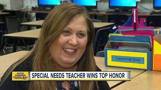 Largo special needs teacher Sara Klug honored with international Teacher of the Year award - Video