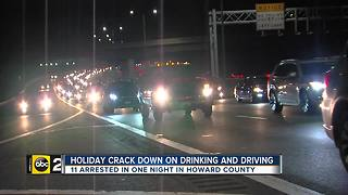 11 arrested for impaired driving in Howard County in one night - Video