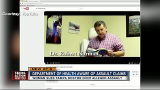 Department of Health aware of assault claims against Tampa doctor - Video